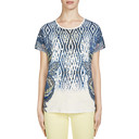 Feather Printed T Shirt - Blue - Alternative 1