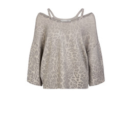 Oui Animal Metallic Jumper - Metallic