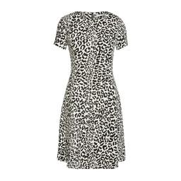 Oui Textured Animal Print Dress - Black mix