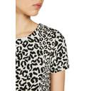 Textured Animal Print Dress - Black Mix - Alternative 4