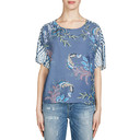 Printed Leaf Top - Blue - Alternative 1