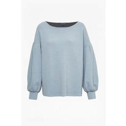 French Connection Ellen Textured Jumper in Dusty Blue
