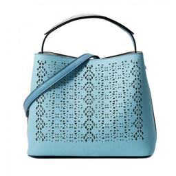 Lucy Cobb Laser Cut Bag - Blue