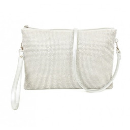 Lucy Cobb Diamante Clutch Bag - Silver