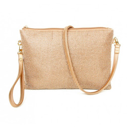 Lucy Cobb Diamante Clutch Bag - Champagne