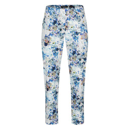 Robell Trousers Bella 09 Floral Print - Blue