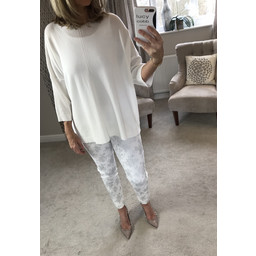 Lucy Cobb Helen Jumper  in White