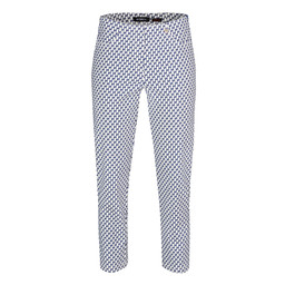 Robell Trousers Bella 09 Geo Print Trousers - Navy