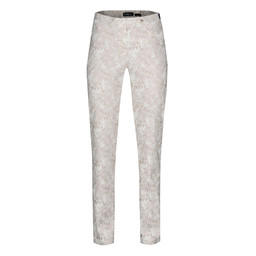 Robell Trousers Bella Fern Print Trousers - Copper