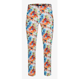 Robell Trousers Rose 09 Floral Print Trousers -