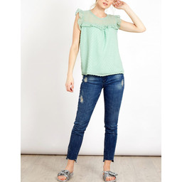 Lucy Cobb Kerry Blouse in Green