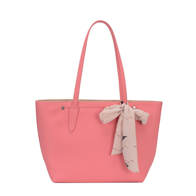 9695847bada David Jones Shopper with Scarf Detail Pink