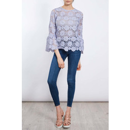 Lucy Cobb Daisy Lace Top in Lilac