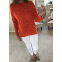 Velma Pearl Front Jumper  - Orange - Alternative 1
