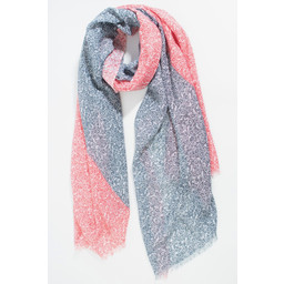 Lucy Cobb Floral Print Scarf - Coral