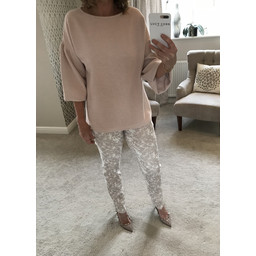 French Connection Ellen Textured Jumper in Dusky Pink