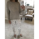 Velma Pearl Front Jumper  - Stone