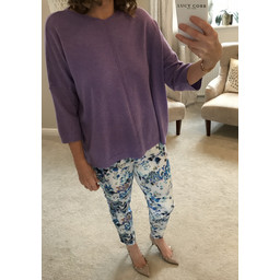 Lucy Cobb Helen Jumper  in Lilac