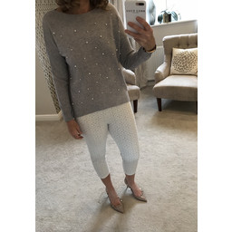 b75b59dd3e5413 Alice Collins Selina Crop Leggings - Grey
