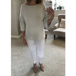 French Connection Ellen Textured Jumper in Grey