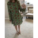 Floral Skater Dress - Green