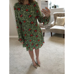 Glamorous Floral Skater Dress - Green