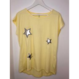 Lucy Cobb Star Tee - Yellow