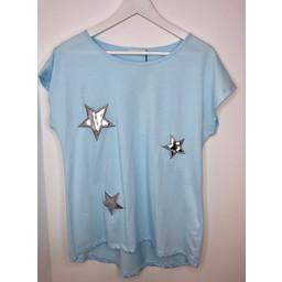 Lucy Cobb Star Tee - Soft Blue