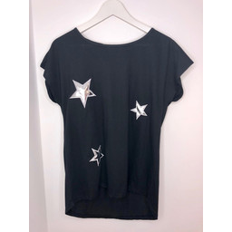 Lucy Cobb Star Tee - Black