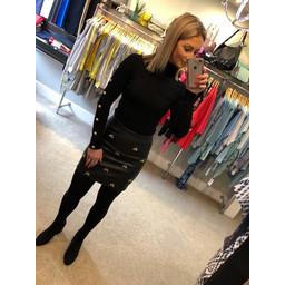 Lucy Cobb Bee Pleather Skirt - Black