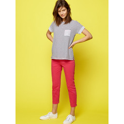 White Stuff Ash straight Crop Jeans - Magenta