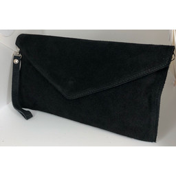 Lucy Cobb Suede Clutch in Black
