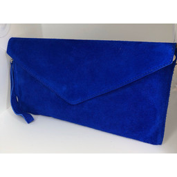 Lucy Cobb Suede Clutch - Royal