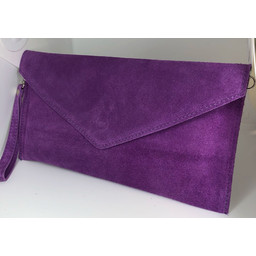 Lucy Cobb Suede Clutch in Purple