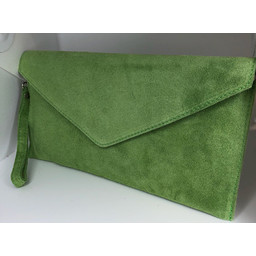 Lucy Cobb Suede Clutch - Green