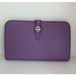 Lucy Cobb Travel Wallet with Purse in Lilac