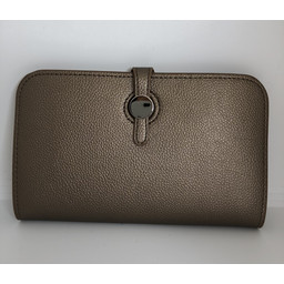 Lucy Cobb Travel Wallet with Purse in Bronze