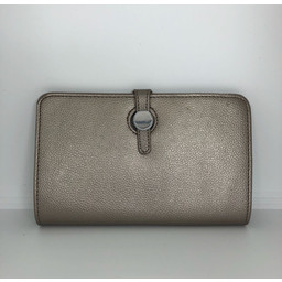 Lucy Cobb Travel Wallet with Purse in Metallic
