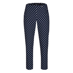 Robell Trousers Bella 09 Minimal Print Polka Dot Trousers - Navy
