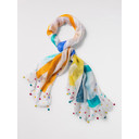 Sea you soon Silk Scarf - White Mix