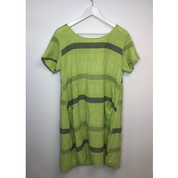 Lucy Cobb Perry Stripe Dress - Lime Green