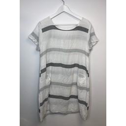 Lucy Cobb Perry Stripe Dress - White