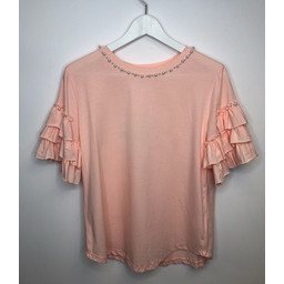 Lucy Cobb Penny Pearl T Shirt - Pink