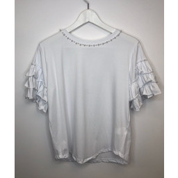 Lucy Cobb Penny Pearl T Shirt - White