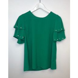 Lucy Cobb Perry Pearl Top - Green