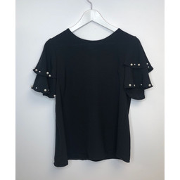Lucy Cobb Perry Pearl Top - Black