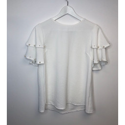 Lucy Cobb Perry Pearl Top - Ivory