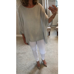 Lucy Cobb Libby Oversized Top - Grey