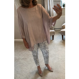 Lucy Cobb Libby Oversized Top - Dusky Pink