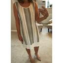 Harriet Dress - Indigo Stripe